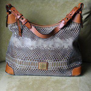 Dooney & Bourke Embossed Lizard Hobo Bag-